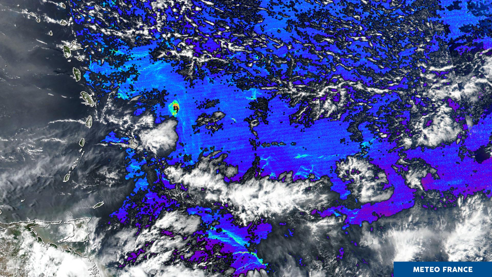 Détection de bancs d'algues en mer des Sargasses