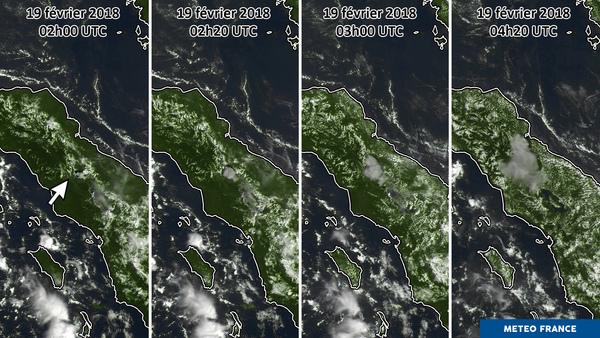 Chronologie d'une éruption volcanique en Indonésie