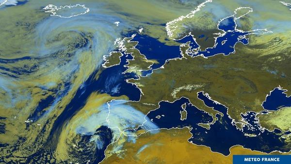 Une grande partie de l'Europe sous le soleil.