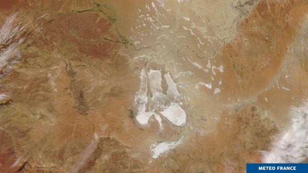 Lac salé en Australie