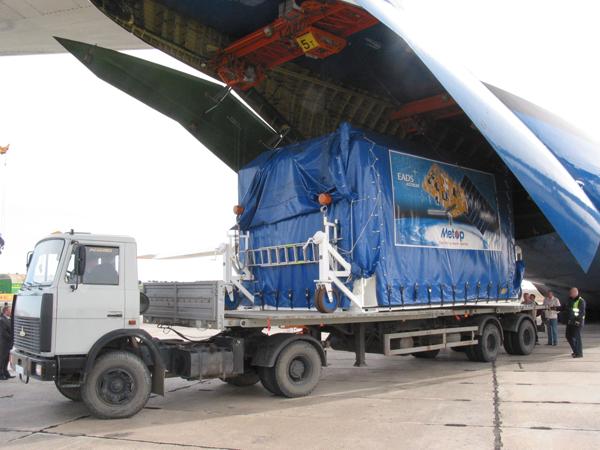 MetOp-B est arrivé sur le site de lancement