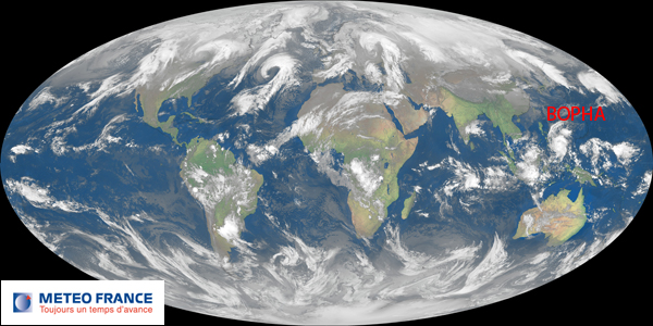 Situation globale le 4 décembre 2012 à 06h00 UTC