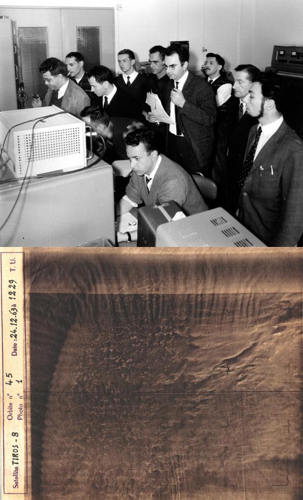 Il y a 49 ans... voici la première image reçue au Centre de Météorologie Spatiale à Lannion