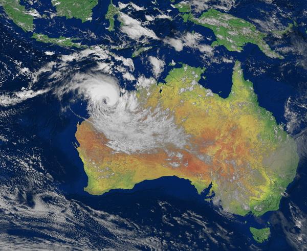 Rusty s'approche des côtes australiennes