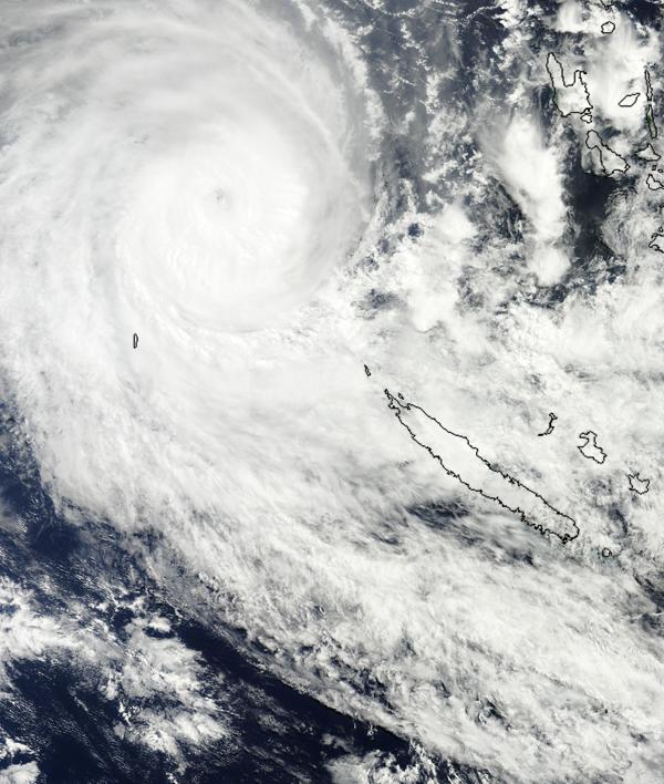 Sandra en approche de la Nouvelle-Calédonie