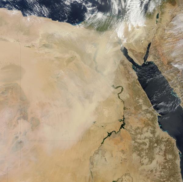 Tempête de sable en Egypte