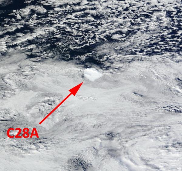 Des nouvelles de l'iceberg C28A