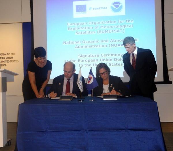 EUMETSAT et la NOAA signent un accord de long terme pour la surveillance du temps et du climat depuis l'Espace