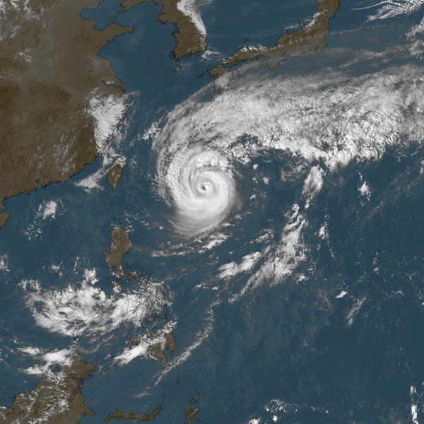 Vongfong en mer des Philippines