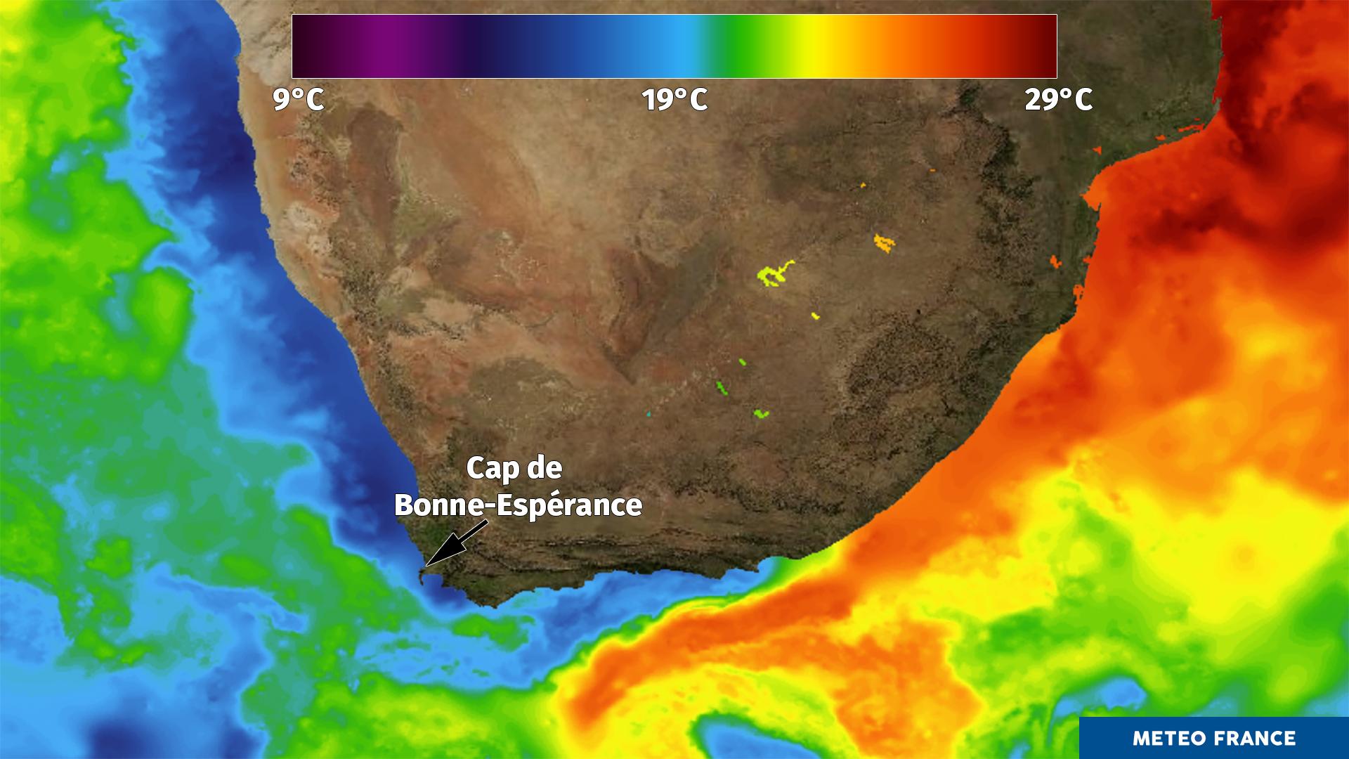 Le contraste des eaux d'Afrique du sud