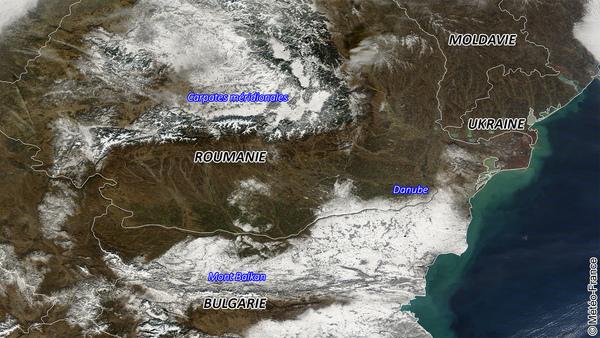 Neige sur les Balkans