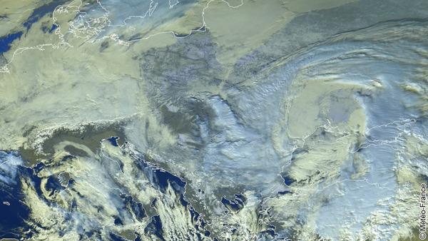 Neige en Europe de l'est.