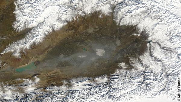 L'hiver sur la vallée de Ferghana