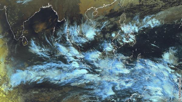 Un amas convectif s'approche du golfe de Thaïlande