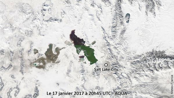 Le Grand Lac Salé dans un écrin de glace