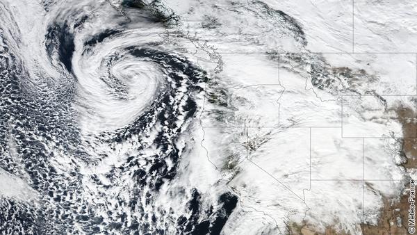 Tempête en Californie