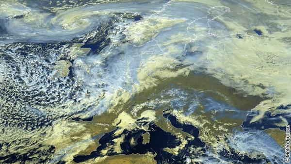 Conditions très mouvementées sur l'ouest de l'Europe