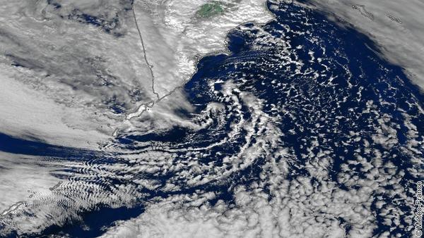 Textures nuageuses sur le Pacifique nord