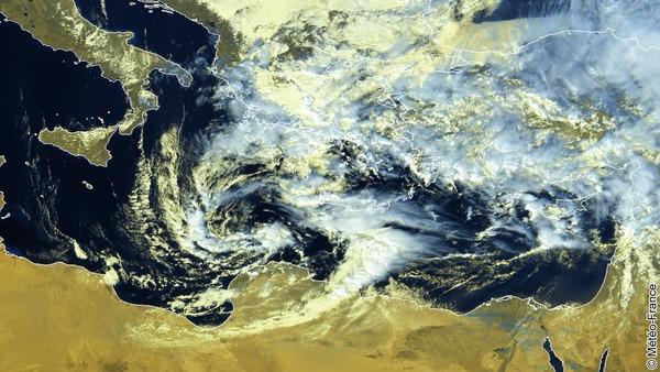 Temps perturbé sur l'Est de la Méditerranée