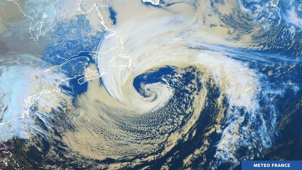 Temps perturbé sur l'Atlantique