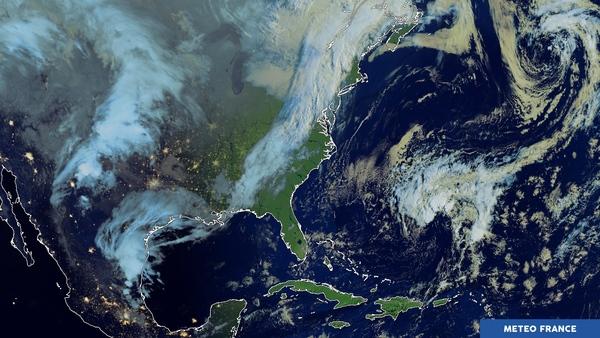 Lever de soleil sur l'Amérique du Nord