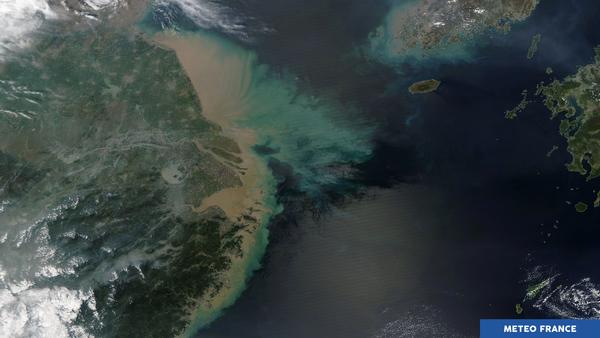 Turbidité en mer de Chine