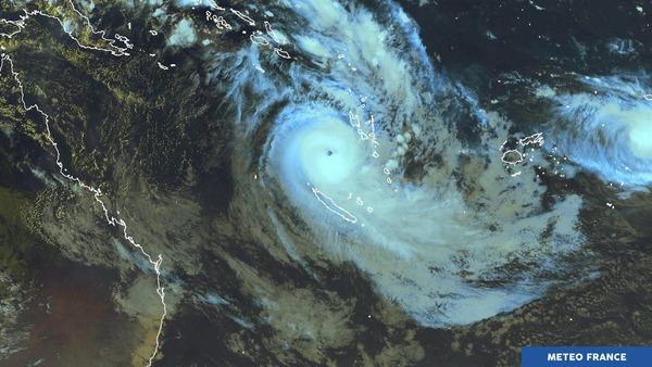 Un puissant cyclone observé dans l'hémisphère Sud.