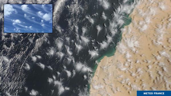 Structures nuageuses au large du Maroc