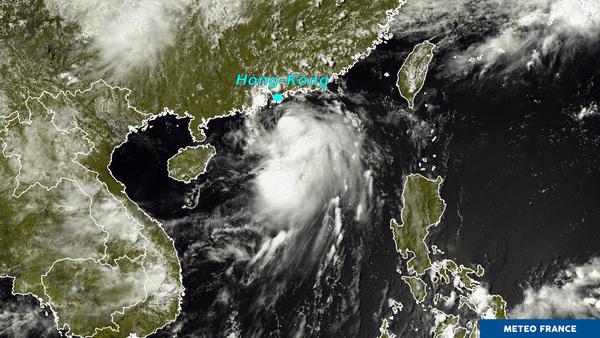 Forte tempête tropicale Merbok