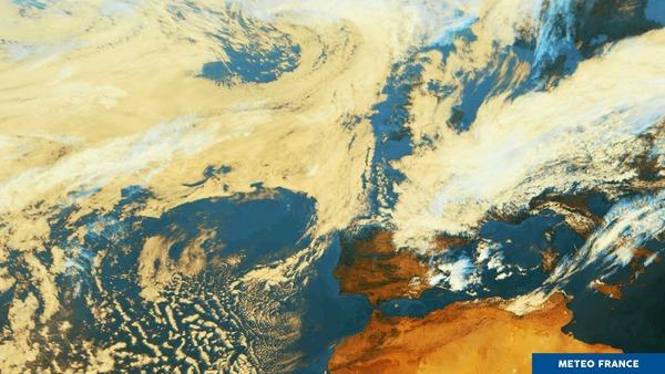 Nombreux nuages en France