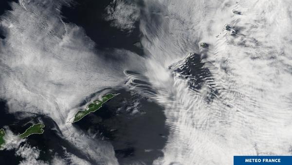 Multiples effets orographiques sur l'extrême nord du Japon