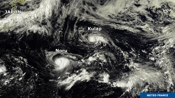 Effet de Fujiwhara dans le nord-ouest du Pacifique