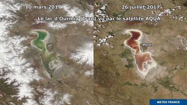 Les teintes salées du lac d'Ourmia