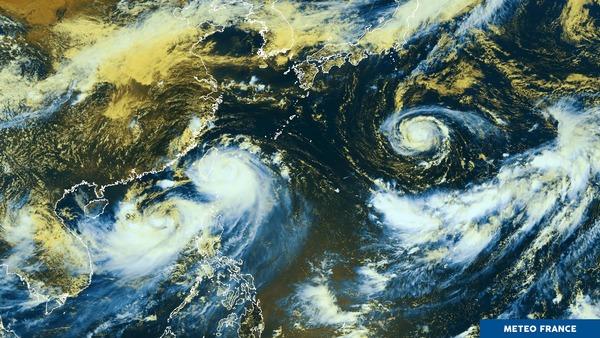 Cyclones sur le Nord Pacifique