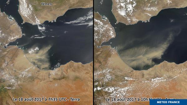 Déplacement de sable dans le golfe d'Aden