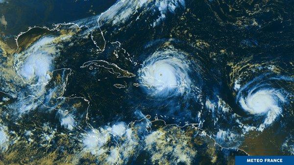 Les ouragans Katia et José encadrent Irma