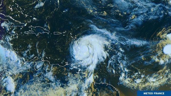 Premiers effets de Maria sur la Martinique