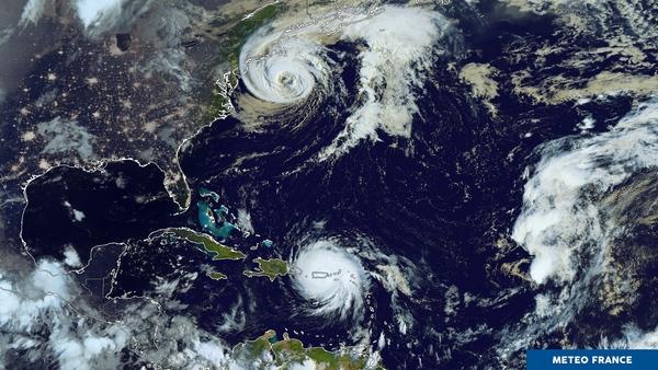 L'Atlantique nord toujours secoué par 2 phénomènes tropicaux