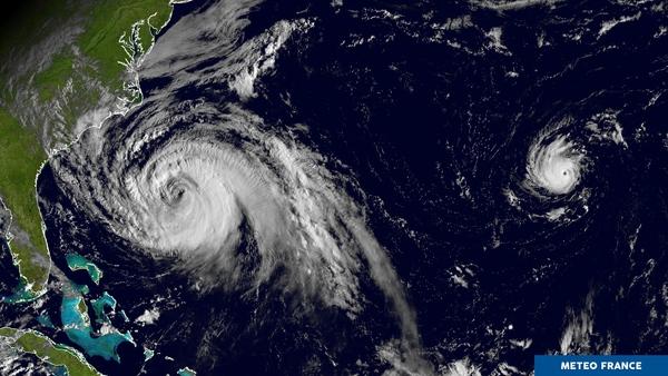 Duo d'ouragans sur l'Atlantique
