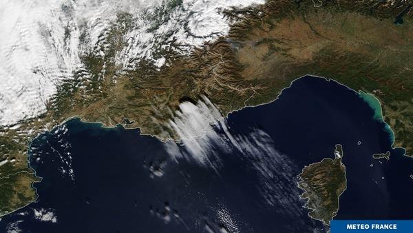 Soulèvement orographique sur la Provence