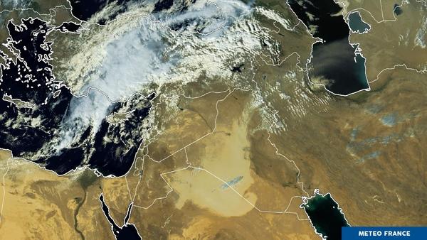 Tempête de sable au Moyen-Orient