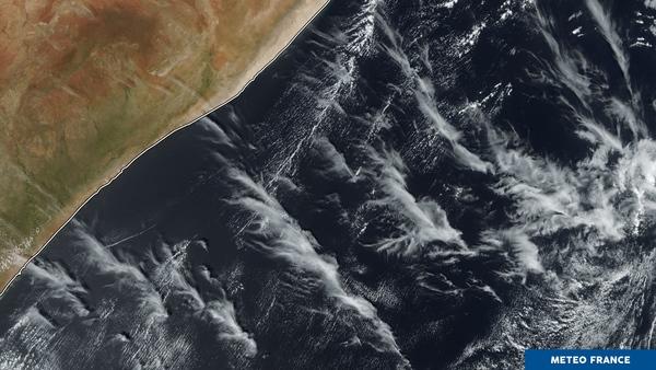 Cisaillement météorologique près des côtes somaliennes