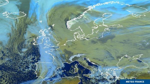 Un puissant anticyclone sur l'Europe de l'Est.