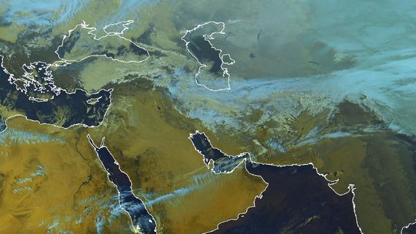 Neige sur le nord de l'Iran