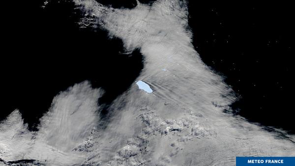 Icebergs et effets orographiques en mer de Scotia