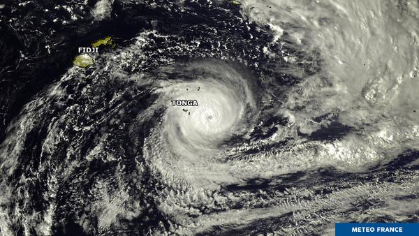 Un cyclone très puissant dans le Pacifique sud