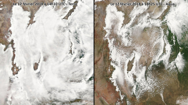 Dissipation du brouillard sur le relief nord Argentine