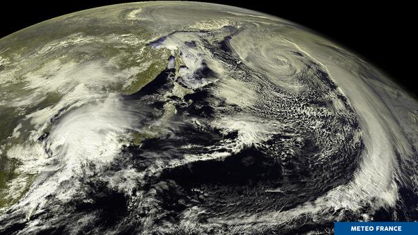 Une vue du Pacifique nord