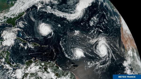 Pic de la saison cyclonique sur l'Atlantique