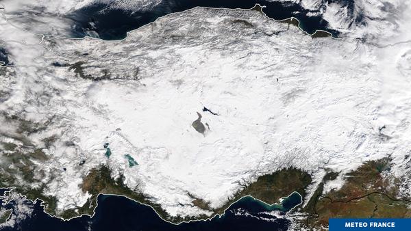 La neige recouvre toute la Turquie... Enfin presque !